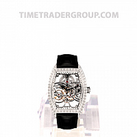 Franck Muller Skeleton Gemstone White Gold 8880 B S6 SQT BAG