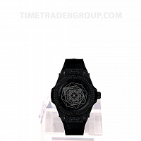 Hublot Big Bang Sang Bleu All Black Pave 39mm 465.CS.1114.VR.1700.MXM18