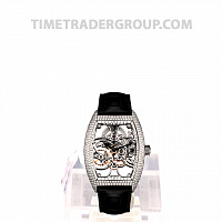 Franck Muller Skeleton Gemstone Black Leather 8880 B S6 SQT D