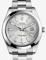 Rolex 116300 Oyster Perpetual Datejust II Silver Dial