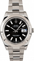 Rolex 116334 Oyster Perpetual Datejust II Black Dial