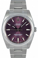 Rolex 114200 Oyster Perpetual 34 Red Grape Dial