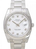 Rolex 115234 Date 34 White Diamond Oyster