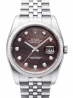 Rolex 116234 Datejust 36 Black MOP Diamond Jubilee